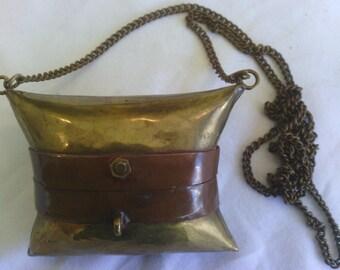 Vintage Minaudiere Brass Purse