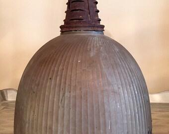 Vintage Industrial Mercury Glass Reflector Lamp Shade light fixture Mogul base- Steampunk RARE