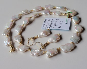 Biwa Pearl Necklace  (JK779)