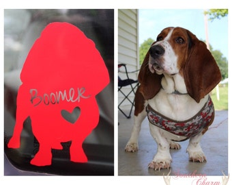 custom silhouette of your own pet/dog/cat | decal