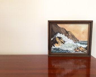 Vintage Mid Century Oil Painting