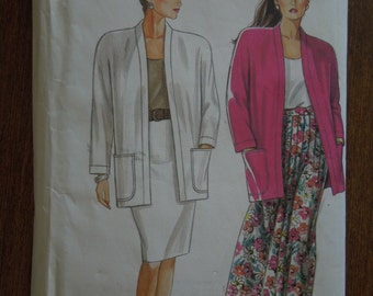 Simplicity 9837, sizes 10-20, misses, womens, skirt, unlined jacket, UNCUT sewing pattern, craft supplies