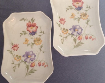 SALE-Porcelaine Florence Limoges, Table Trays, France, Set of Two