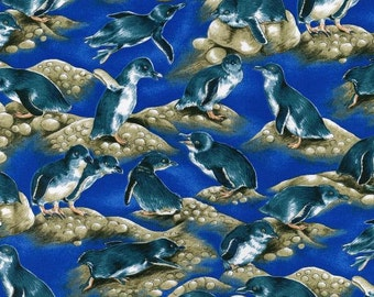 Patchwork Quilting Fabric Nutex Penguins Allover