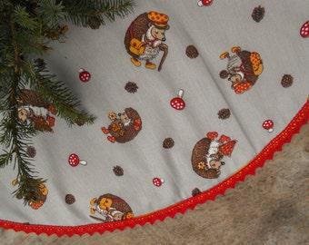 Christmas Tree Skirt Christmas Decor Nordic Christmas Swedish Fabric Swedish Christmas Ornament Scandinavian Christmas Scandinavian Fabric