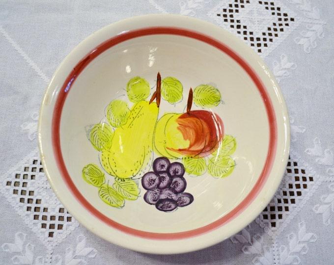 Vintage Trimont Ware Serving Bowl Fruit Design Japan PanchosPorch