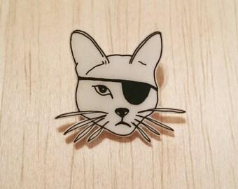 Pirate Cat Brooch