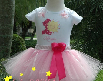 1st birthday girl outfit, sun baby 1st tutu outfit,you are my sunshine yellow tutu girl outfit, personalized shirt dress