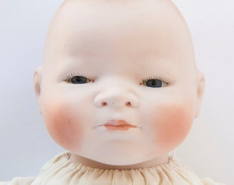 German Bisque Bye Lo Baby Doll GRACE S. PUTNAM 16 Inches Frog Legs Eyes Open