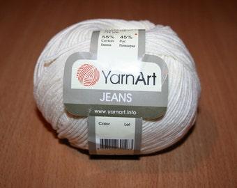 Summer yarn. Сotton blend acrylic. YarnArt JEANS