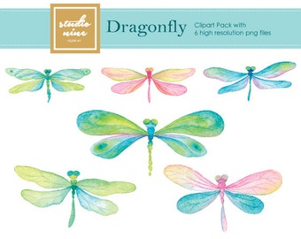 Dragonfly Clipart Set