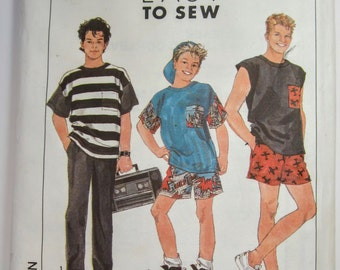 Simplicity 9174 Teen Boys Pants Shorts & Tops Sewing Pattern Sizes 14 - 20 Uncut