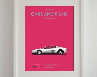 Miami Vice car movie poster, art print A3 Cars And Films, home decor prints, car poster