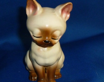 Josef Originals Papa Siamese Cat Figurine, Japan, With Labels