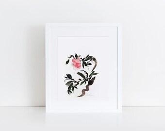 light heart ' watercolor art print