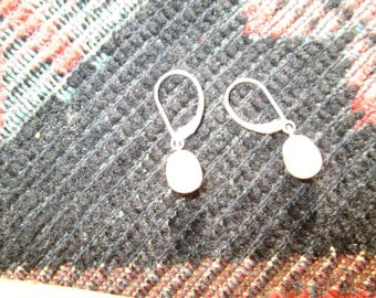 Freshwater Pearls and Sterling Dangle Leverback Earrings