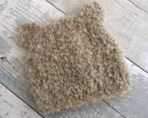 Light Brown Teddy Bear Hat, Beige Baby Bear Hat, Knitted Bear Hat Baby, Animal Hat Baby, Bear Beanie, Knitted Baby Hat, Baby Gift