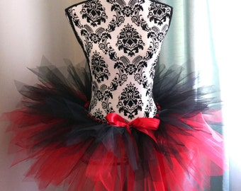 Red and Black Tutu - Adult Tutu - Halloween Tutu