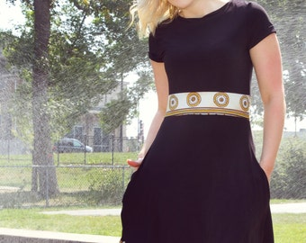"""dress """"Gilbert"""" small black color, details style"""