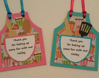 Baking Party Favor Tags - Cooking Party Favor Tags - Birthday Party Favor Tags Set of 12