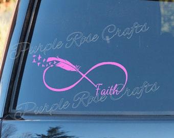 Faith Infinity feather with birds decal/sticker