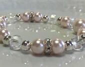 RESERVED Light Rose Pink Pearl Bracelet