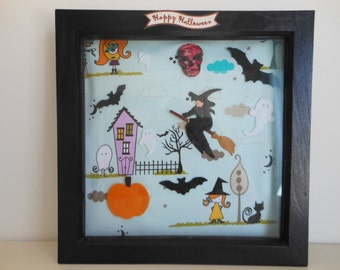 Hocus pocus gifts, halloween picture frame, spooky decor, haunted mansion, gothic bedroom wall decor, gift for teens, bedroom signs for door