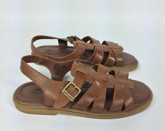 Size 10 - Leather Sandals - Vintage - Womens US Size 10 Shoes