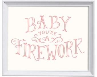 Firework - Hand Lettered Print