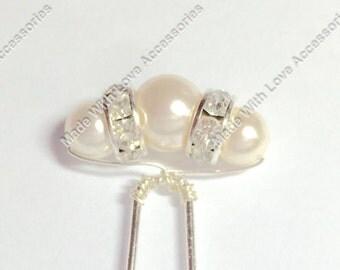 Pearl Hair Pins - Pearl Bobby Pins - Bridal Hair Accessories - Bridesmaids Hair Accessories - Wedding Accessories - Prom Hair