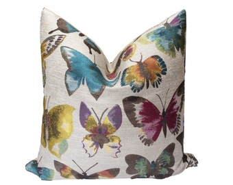 Butterfly Pillow Cover, Butterflies, Cushion Cover, Home Decor