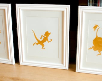 Handpainted Lion King Silhouettes - 3 in a set