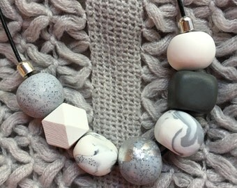 Hand made polymer clay Necklace