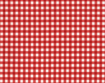 RJR Fabrics White Christmas 2353 01 Red Checkers Yardage by Patrick Lose