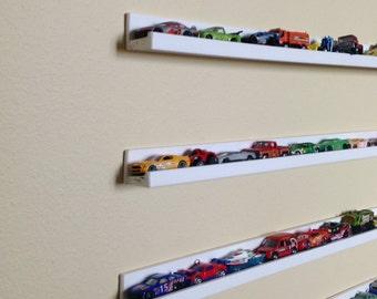 Hot Wheels/Box Cars Shelves Storage Set of 5 Box cars Storage Shelves, Box and Picture Frames Display Shelves, Kids Room Storage Solution