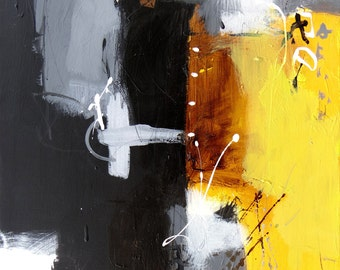 18x24  ABSTRACT — PALETTE KNIFE Acrylic Painting On Canvas By Leonid Kuzenny