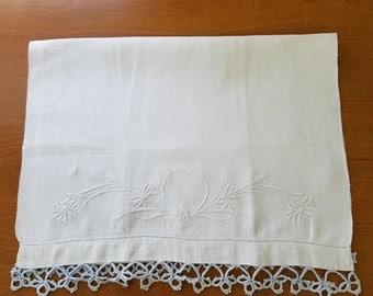 Vintage Linen Hand Tea Towel  #39