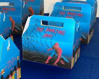 Spider-Man Personalized Party Favor Box ( SKU# SMFB01 )