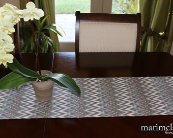 "Savvy Pewter/Natural Table Runner 13"" x 72"""