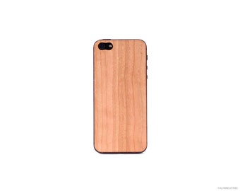 Real Cherry iPhone 5 5s 4 4s Wood Skin