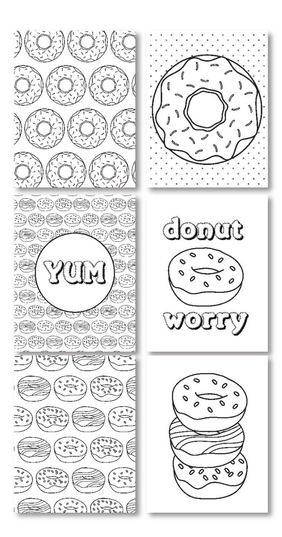 Donut Worry Adult Coloring Pages Donut Coloring Pages