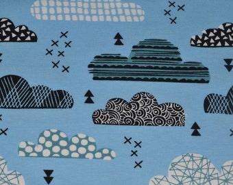 1/2 yd jersey, Knit-Jersey, clouds blue (15,98 EUR/yd)