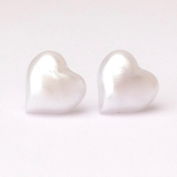 pearl flat back earring studs pearl earring