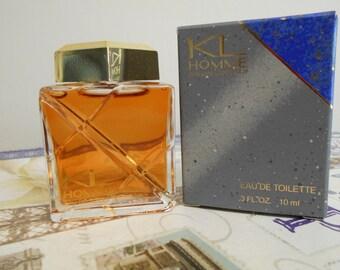 KL Homme by Karl Lagerfeld miniature eau de toilette 10 ml / 0.3 oz. with box.  KL for men, men's fragrance, KL Pour Homme.