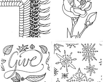 mini coloring pages random