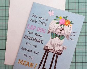 Unused Vintage Happy Birthday Greeting Card