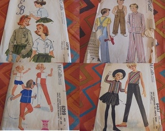 U Pick SEWING PATTERNS Childrens Clothing Kids Boys Girls Vintage Rockabilly 1950s 60s