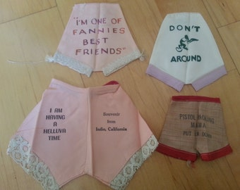 Set of 4 Vintage WWII Sweetheart Tiny Underwear