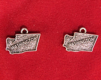"""5pc """"Washington"""" charms in antique silver style (BC1087)"""