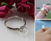 6/8MM Mini Glass Ball ring,Glass ball rings,Glass Bottle Rings,DIY glass globe rings,Valentine jewelry